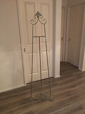 Easel Antique Silver 157cm wedding easel  picture stand