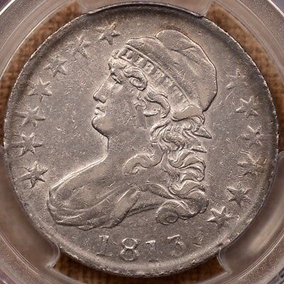 1813 O.102 R4 Capped Bust half, PCGS XF45, frosty light gold  DavidKahnRareCoins