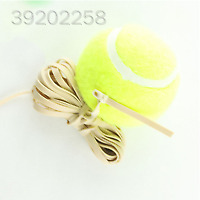 Tennis Ball With Elastic Rubber Rope Beginners Trainer Single Train Tool CB9D