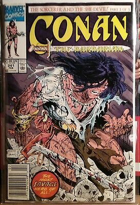 Conan #241  ( 1991 Marvel ) Todd Mcfarlane Cover !!! Newsstand Edition Fn+