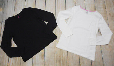 H&m Girls Size 8-10 Long Sleeve Top Nwot Faded Glory Sz 10-12 Black Top Euc