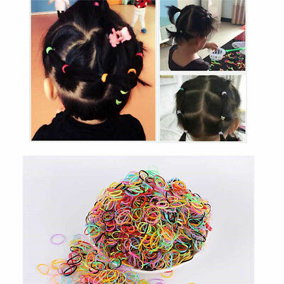 Girl Elastic Hair Rubber Bands Ponytail Rope Ties Hairband Plait Braids D