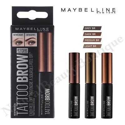 MAYBELLINE TATTOO BROW TINT Semi-Permanent EYEBROW Easy Peel Off Gel MAKEUP New