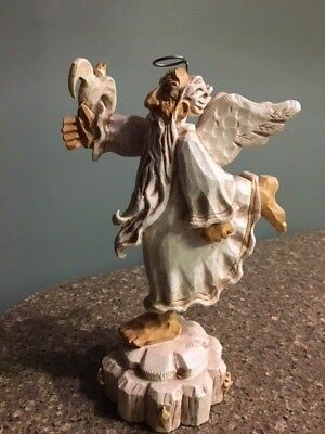 """David Frykman The Oldest Angel Christmas Statue Figurine Signed DF3219 9 1/4"""""""