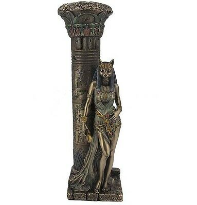 "10.75"" Egyptian Goddess Bastet Sculpture Figurine Ancient Egypt Statue Pagan"