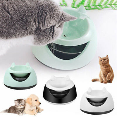 Pet Water Fountain For Cat Dog Automatic Food Bowl Dish Feeder Dispenser