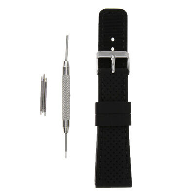 High Quality Rubber Silicon Watch Band 22mm Wristwatch Strap Replacement
