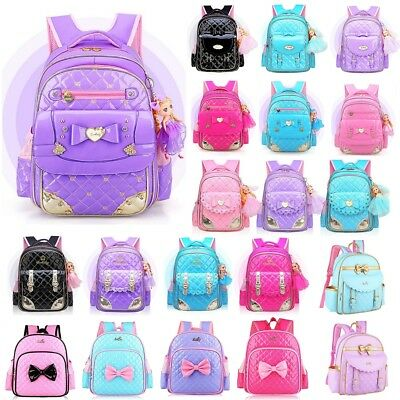 Girls Backpack Kids Primary School Backpack Chic Bowknot Book Bags Handbag Bag