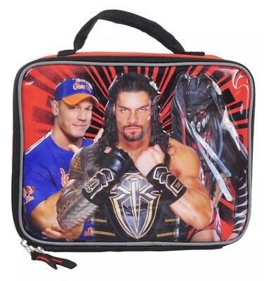 WWE Insulated Lunchbox John Cena Fin Baylor Roman Reigns New Lunch Bag Wrestling