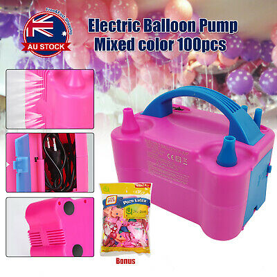 Air Balloon Pump 2Nozzle Electric Automatic Portable 600W Inflator Party Wedding