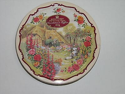 """Toffee/Chocolate Tin """"Royal Albert-Old Country Roses"""""""
