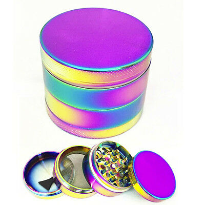 63mm 4 layer Zinc Alloy Hand Crank Herb Mill Crusher Tobacco Smoke Grinder USA