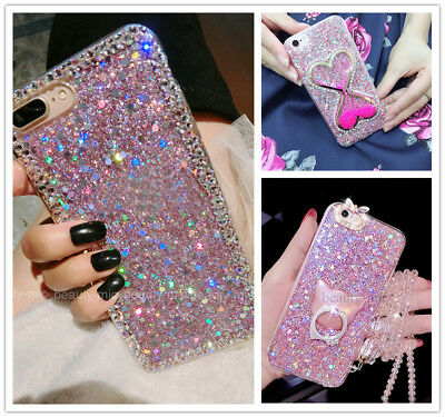 Fashion Glitter Bling Shockproof Hybrid TPU Protective Phone Back Case Cover