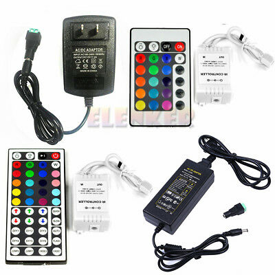24/44 key IR Remote Controller +2A/5A Power Supply for 3528 5050 LED Strip Light