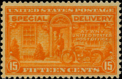 1931 15c Motorcycle, Special Delivery, Orange Scott E16 Mint F/VF NH