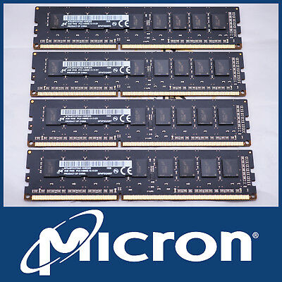 Micron 16Gb Kit 4X 4Gb Ddr3-1866 Pc3-14900E Ecc Server Pc Mac Ram Memory 12800E