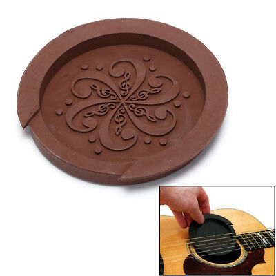 Acoustic Guitar Sound Hole Cover Rubber Screeching Halt Guitar Accessory