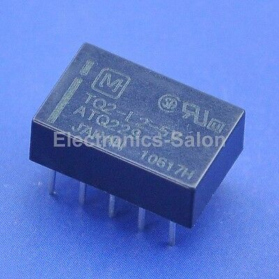 10pcs Panasonic TQ2-L2-5V Two Coil Latching Signal Relay, DPDT, Low Profile.DC5V