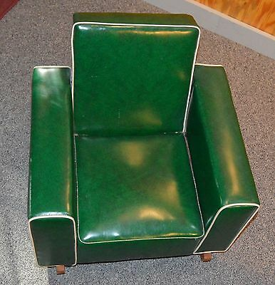 Vintage 1950's TV Time Mfg. Child's Upholstered Rocking Chair Naugahyde w/Piping
