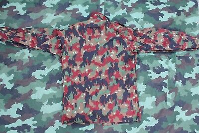 SWISS ARMY M83 alpenflage combat jacket NEW UNISSUED LARGE