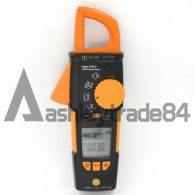 NEW testo 770-2 Clamp meter 0590 7702 Auto AC/DC and large two-line display