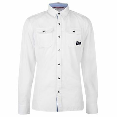 Lee Cooper Full Length Sleeve Fashion Shirt Mens Gents Everyday Cotton Chest