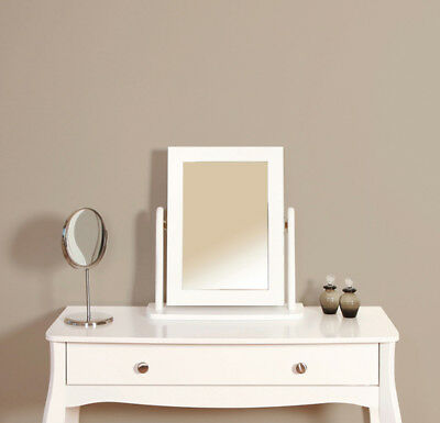 Lyon French Style White Vanity Mirror For Dressing Table 49cm 47cm 17cm