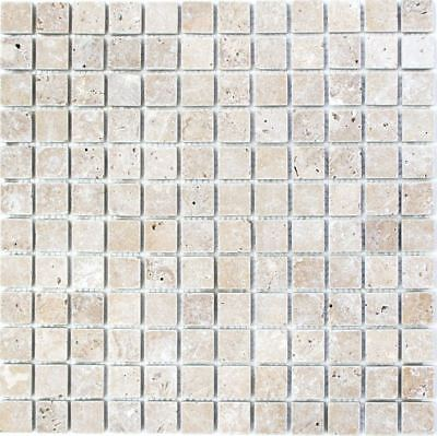Mosaic Tile Marble Natural Stone Black Nero Antique floor 43-44023_b | 1 sheet