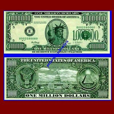 1000000 $ Million Dollars 2003 Unc. / 691347## Fantasy Banknote,Not a legal tend