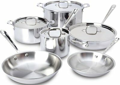 All-Clad 10pc Stainless Steel Cookware Set & Casserole Pan