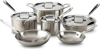 All-Clad D5 Brushed Stainless Steel 10pc Cookware Set