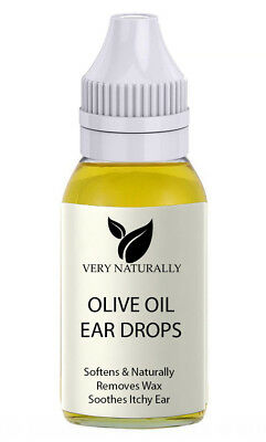 Ear Wax Remover Olive Oil Pure Cold Pressed Natural Medical Grade