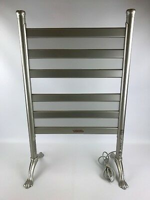 Warmrails Towel Blanket Warmer Or Drying Rack Model BE6-S, Satin Nickel Finish