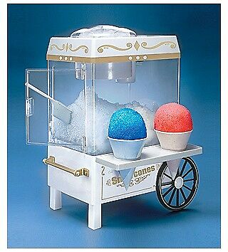 Nostalgia Electrics Snow Cone Maker, Vintage Collection Carnival Style