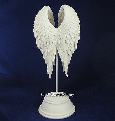 Angel Wings on Stand Ornament Peace Figurine Remembrance Heavenly Figure Statue