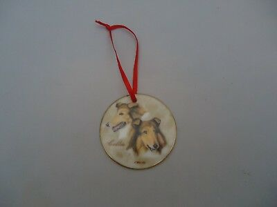 Ornament COLLIE The Dog Show Collection Flat Porcelain Chris Hoy Limited Edition