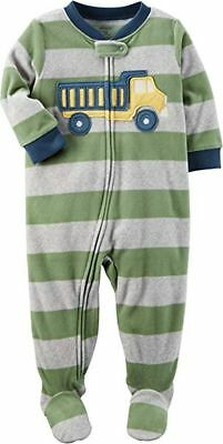 a744f711f CARTER S 2T TODDLER Boy s Footed Fleece Dump Truck Pajamas -  2.99 ...
