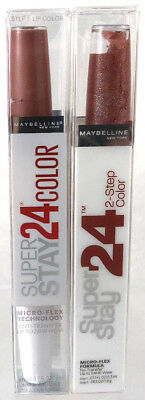 (2) Maybelline Super Stay 2-Step Lip Color Stain New 141 - More & More Mocha