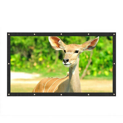16:9 Projection Screen Curtains Film for Home Theater Outdoor Meeting D