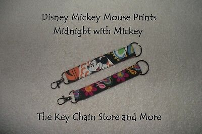 Handmade KEY CHAINS in Vera Bradley Mickey Mouse Prints  * New