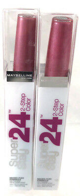 (2) Maybelline Super Stay 2-Step Lip Color Stain New 080 - Infinite Petal