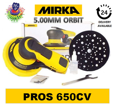 Mirka PROS 650CV 150mm Central Vacuum 5.0mm Air Powered Random Orbital Sander