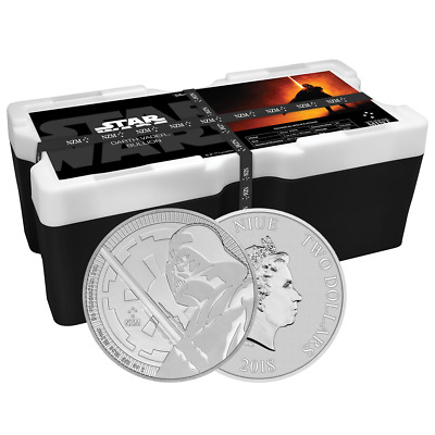 Lot of 250 - 2018 $2 Niue Silver Darth Vader Star Wars .999 1 oz BU Monster Box