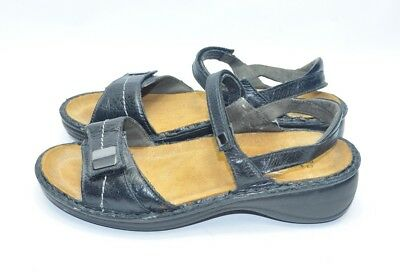 cb3f85a99bca Womens New NAOT Sandals Size 38 EU 7 - 7.5 US Black Leather Adjustable  Straps