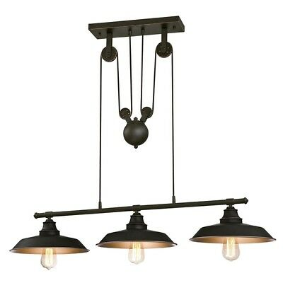 Farmhouse Pulley Light Industrial Chandelier Kitchen Island Dining Room Lighting