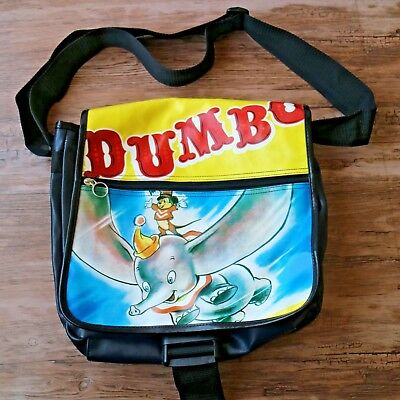 Vintage Disney Dumbo Messenger Crossbody Bag Vinyl Colorful Collector RARE