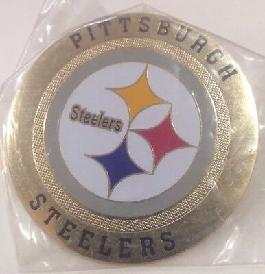 Pittsburgh Steelers metal Round Logo Poker Cards Protector
