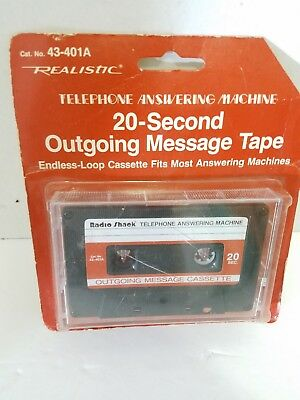 Vintage 20 Second Endless-Loop Outgoing Message Tape 43-402A  Radio Shack NEW