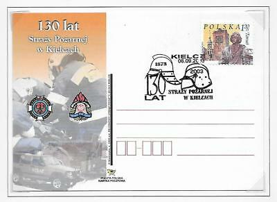 Poland Pictorial Fire Fighting Stationery Post Cards Plain Back (2) 2003 & 2003