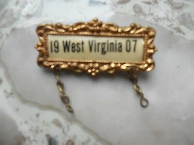 Old West Virginia 1907 Medal Top-
